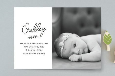 Signed Birth Announcements