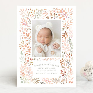 Sweet Vine Birth Announcements By Morgan Ramberg Minted