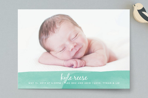 Watercolor Wash Birth Announcements