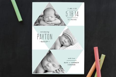 Geometric Baby Birth Announcements