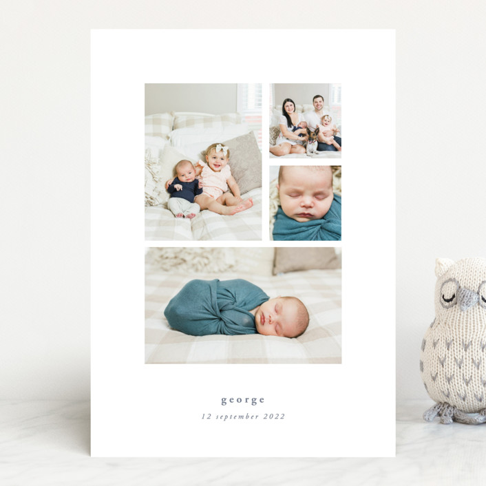 """""""Quietly"""" - Birth Announcements in Sable by Rebecca Daublin."""