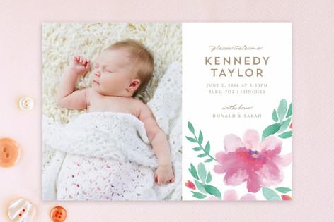 Spring Lilies Birth Announcements