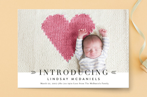 Arrows Birth Announcements