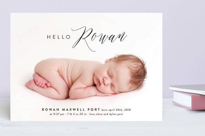 """A Little Hello"" - Birth Announcements in Powder by Roxy Cervantes."