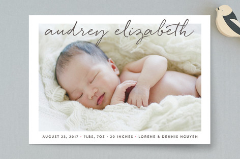 Uptown Introduction Birth Announcements