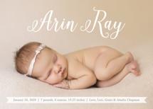 Baby Script Birth Announcements By Erin Deegan