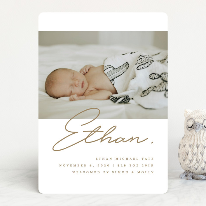 """""""Authentic"""" - Modern Birth Announcements in Cloud by Michelle Taylor."""