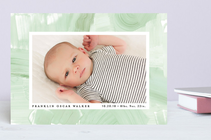 """""""Subtle Abstract"""" - Birth Announcements in Surf by Alethea and Ruth."""