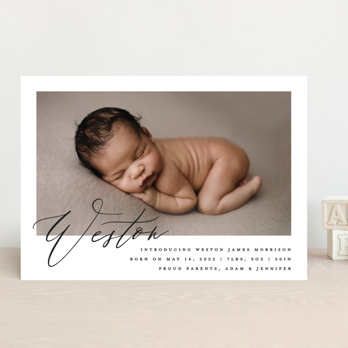 """""""Sweet Introduction"""" - Birth Announcements in Cloud by Carolyn Nicks."""