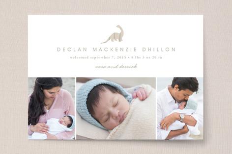 Dino Love Birth Announcements
