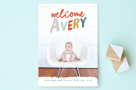 Bold Welcome Birth Announcements