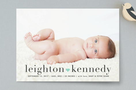 All our love Birth Announcements