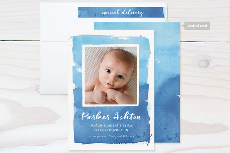 Blended Frame Birth Announcements by Lindsay Megah