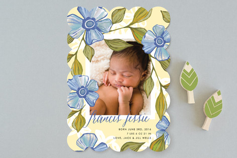 Blue Bonnet Birth Announcements