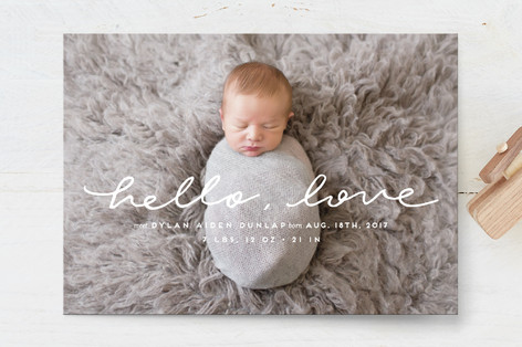 hello little love Birth Announcements