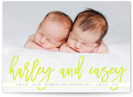 scripted twins Birth Announcements