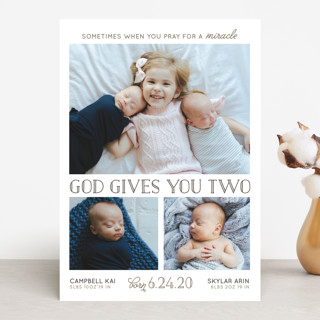 Two Miracles Birth Announcements