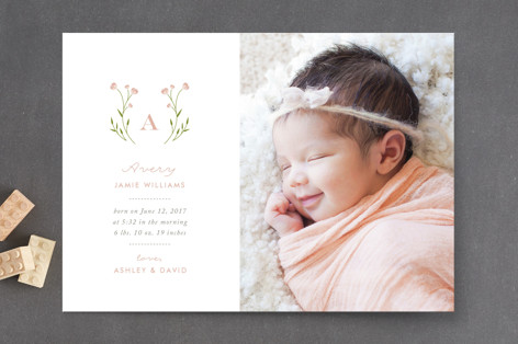 Oh So Sweet Birth Announcements