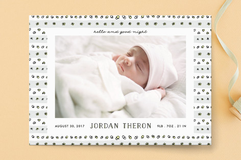 Hello and good night Birth Announcements