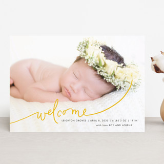 Scripted Welcome Birth Announcements