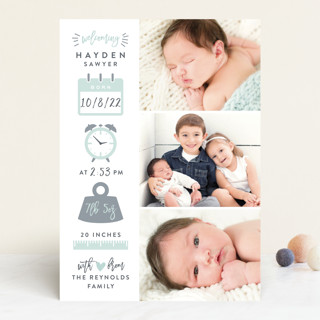 Measures Of Love Birth Announcements