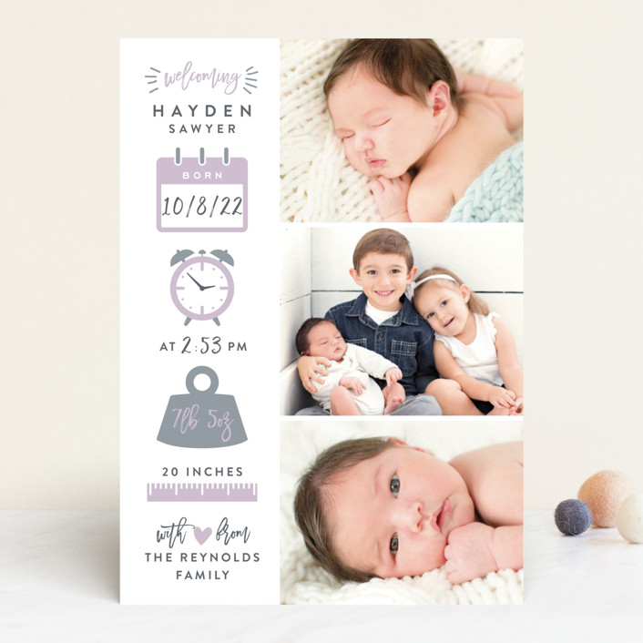 """Measures Of Love"" - Birth Announcements in Mint by Hooray Creative."