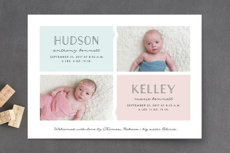 Twinning Birth Announcements