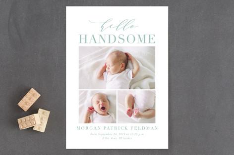Hello Handsome Birth Announcements