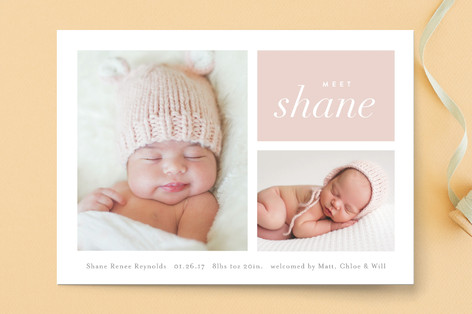 Second Glance Birth Announcements
