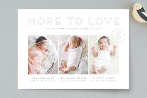 Triple the Love Birth Announcements
