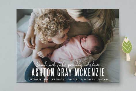 the introduction Birth Announcements