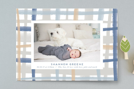 Rad Plaid Birth Announcements