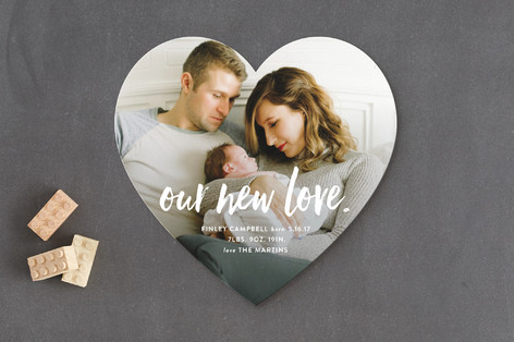 Our New Love Birth Announcements