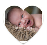 This is a white birth announcement by Hooray Creative called Featured Name with standard printing on smooth signature in standard.