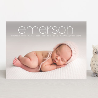 clean Birth Announcements