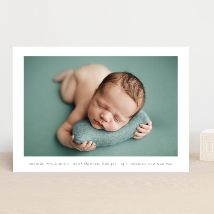 """""""most simple"""" - Birth Announcements in Warm Grey by Phrosne Ras."""