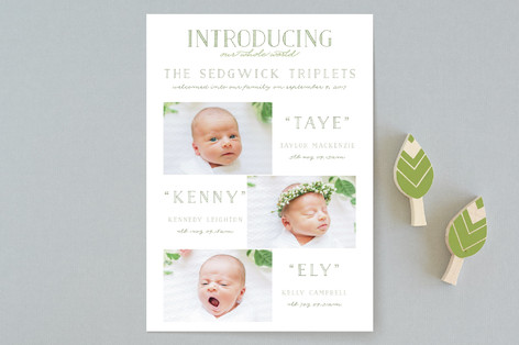 INTRODUCING, our whole world Birth Announcements