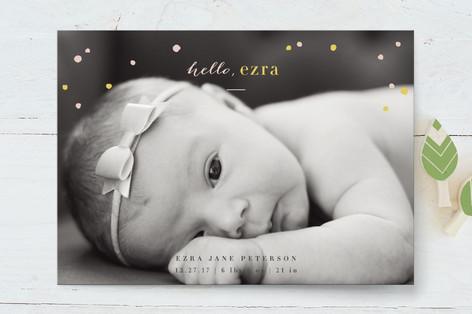 Confetti Shower Birth Announcements