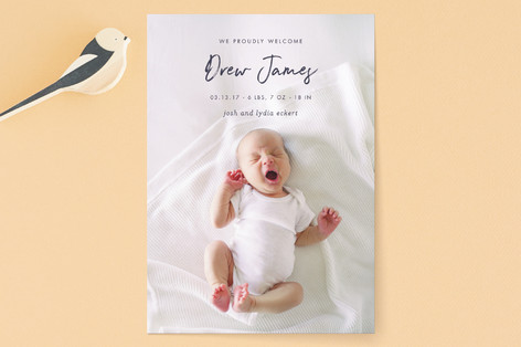 proud welcome Birth Announcements