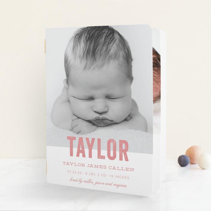 """Statement"" - Birth Announcement Booklette™ Cards in Marine by Sara Hicks Malone."
