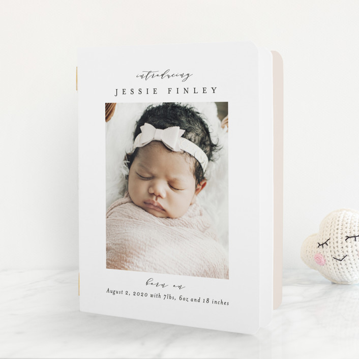 """Elegant Collage"" - Birth Announcement Booklette™ Cards in Ink by Ana Sharpe."