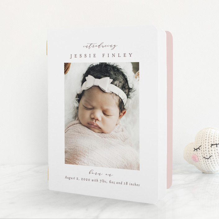 """""""Elegant Collage"""" - Birth Announcement Booklette™ Cards in Ink by Ana Sharpe."""