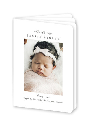 Birth Announcement Booklette Cards