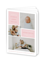 This is a pink birth announcement by Julie Murray called Love Multiplies with standard printing on signature80 in booklette.