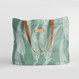 This is a green carry all tote by Katharine Watson called Sketched Willow.