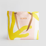 This is a yellow carry all tote by Pati Cascino called Yellow Branches.