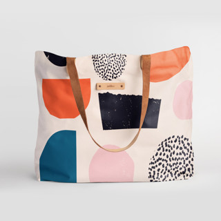 This is a pink carry all tote by Iveta Angelova called Playground in standard.