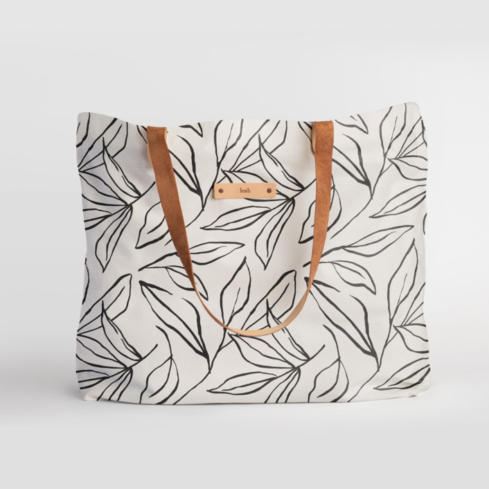 ink line leaves Carry-All Slouch Tote, $78