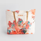 This is a pink carry all tote by Lori Wemple called Floral Bouquet.