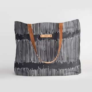 This is a black carry all tote by Tanya Lee Design called Matchstick Black in standard.